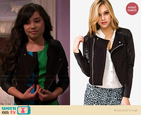 Forever 21 Biker Babe Moto Jacket worn by Cecelia Balagot on Girl Meets World