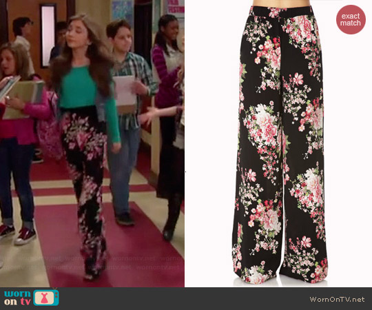 Forever 21 Cherry Blossom Wide Leg Pants worn by Rowan Blanchard on Girl Meets World