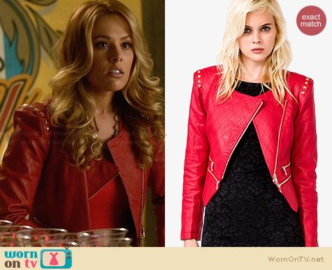 Forever 21 Chic Quilted Bomber Jacket worn by Natalie Hall on Star-Crossed