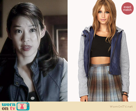 Forever 21 Cool Knit-Trimmed Jacket worn by Arden Cho on Teen Wolf