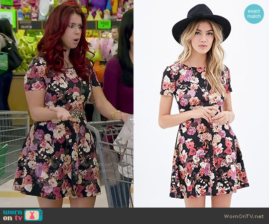 Forever 21 Cutout Floral Skater Dress worn by Jillian Rose Reed on Awkward