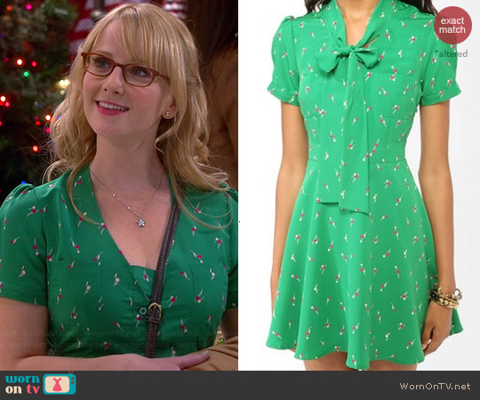 Forever 21 Ditsy Dandelion Dress worn by Melissa Rauch on The Big Bang Theory