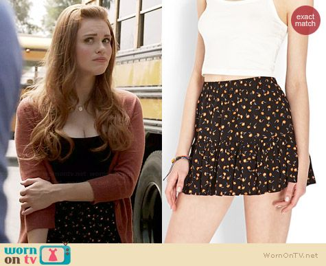 Forever 21 Ditsy Floral Ruffle Skirt worn by Holland Roden on Teen Wolf