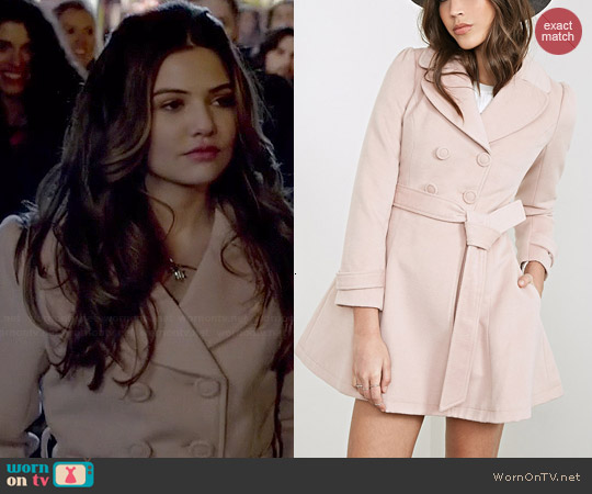 Forever 21 Double Breasted Princess Coat worn by Danielle Campbell on The Originals