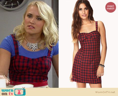 Forever 21 Dynamite Plaid Bodycon Dress worn by Emily Osment on Young & Hungry
