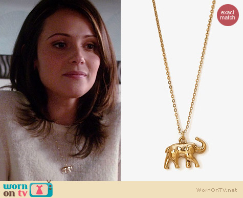 Forever 21 Elephant Charm Necklace worn by Italia Ricci on Chasing Life