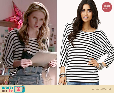 Forever 21 Everyday Striped Tee worn by Rita Volk on Faking It
