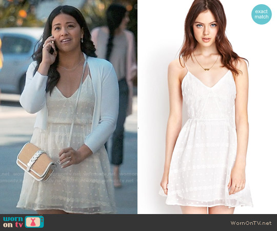 Forever 21 Favorite Embroidered Dress worn by Gina Rodriguez on Jane the Virgin