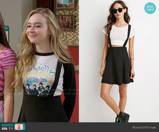 Forever 21 Flared Overall Skirt worn by Maya Hart on Girl Meets World