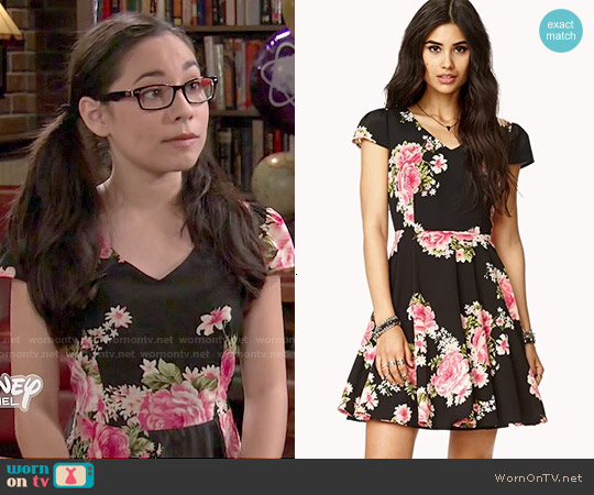 Forever 21 Floral A-Line Cutout Dress worn by Cecilia Balagot on Girl Meets World