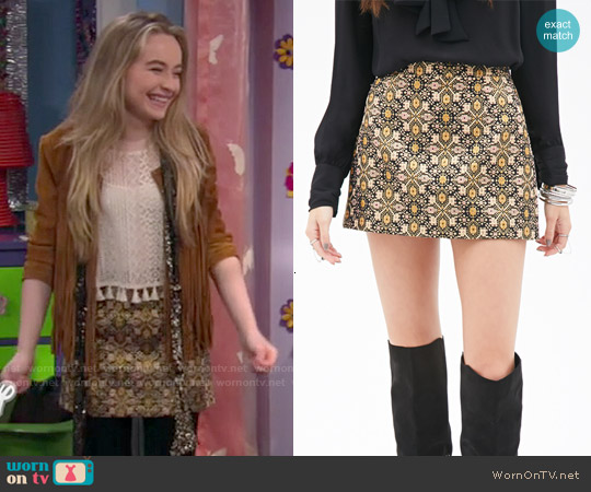 Forever 21 Floral Brocade Skirt worn by Maya Hart on Girl Meets World