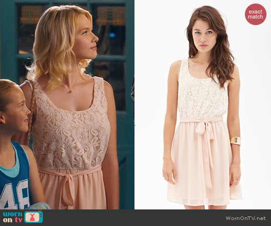 Forever 21 Floral Lace Tea Dress worn by Claudia Lee on Hart of Dixie