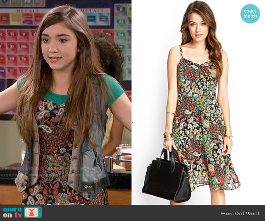Forever 21 Floral Print Cami Dress worn by Rowan Blanchard on Girl Meets World