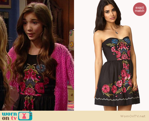 Forever 21 Garden Chic A-Line Dress worn by Rowan Blanchard on Girl Meets World