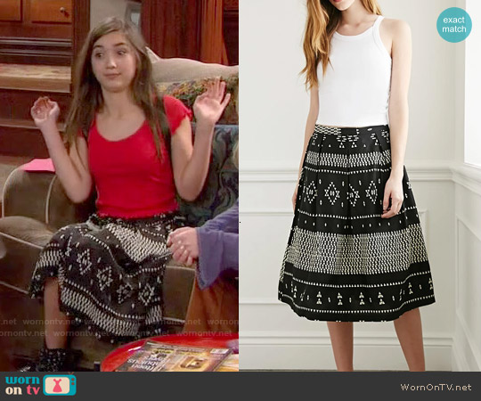 Forever 21 Geo Tribal Print A-Line Skirt worn by Rowan Blanchard on Girl Meets World