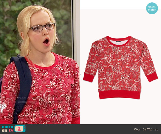 Forever 21 Girls' Paisley Sweatshirt worn by Dove Cameron on Liv & Maddie