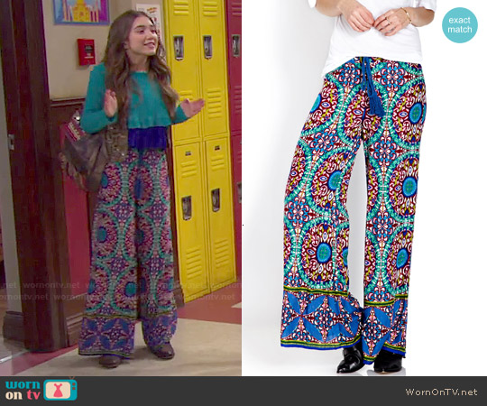 Forever 21 Global Goddess Pants worn by Rowan Blanchard on Girl Meets World