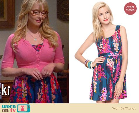 Forever 21 Impressionist Flowers Dress worn by Melissa Rauch on The Big Bang Theory
