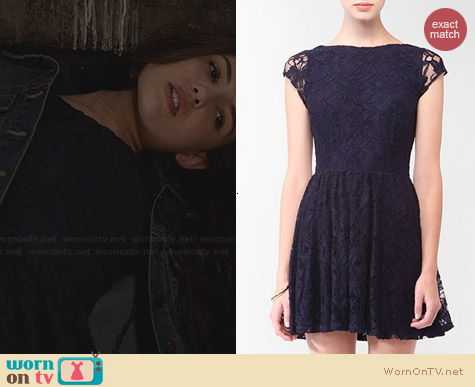 Forever 21 Lace Overlay Dress worn by Danielle Campbell on The Originals