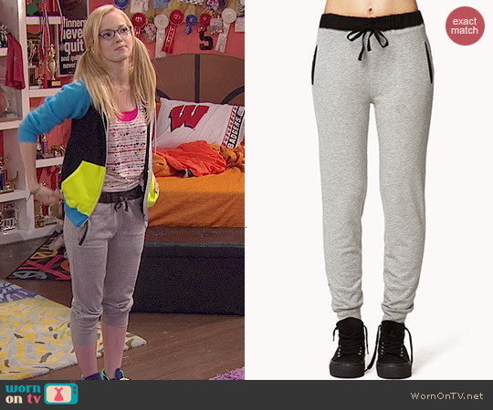 Forever 21 Menswear Inspired Sweatpants worn by Dove Cameron on Liv & Maddie