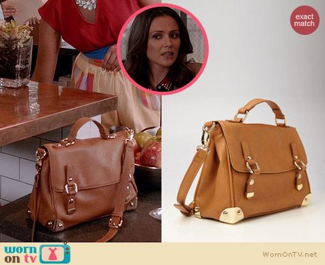 Forever 21 Metal Trim Satchel worn by Italia Ricci on Chasing Life