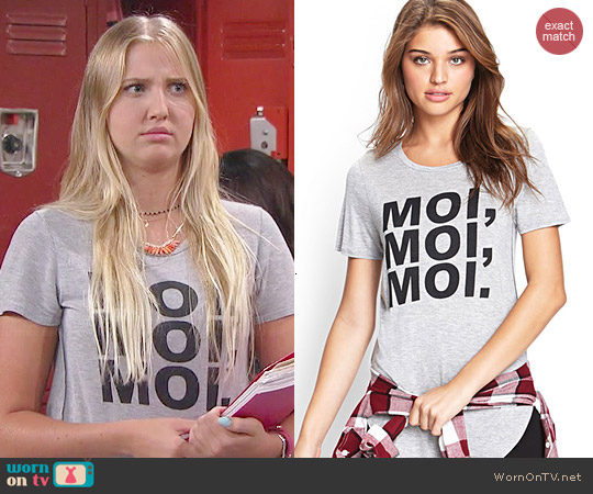 Forever 21 Moi Moi Moi Tee worn by Veronica Dunne on KC Undercover