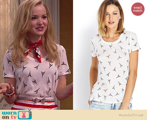Forever 21 Parisian Dreams Tee worn by Dove Cameron on Liv & Maddie