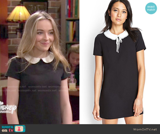 2bbf85103da WornOnTV  Maya s black dress with white collar on Girl Meets World ...