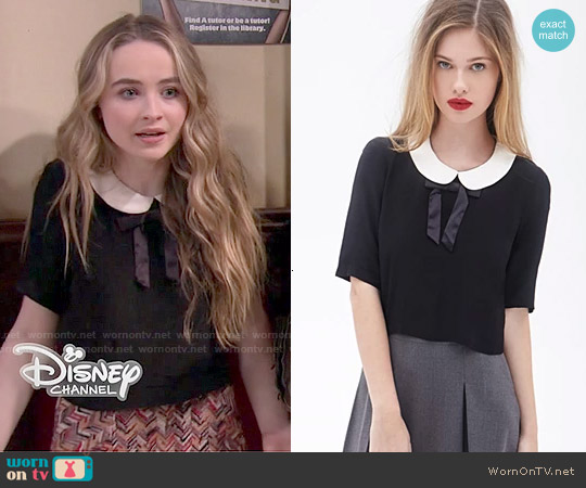 Forever 21 Peter Pan Collar Top worn by Sabrina Carpenter on Girl Meets World