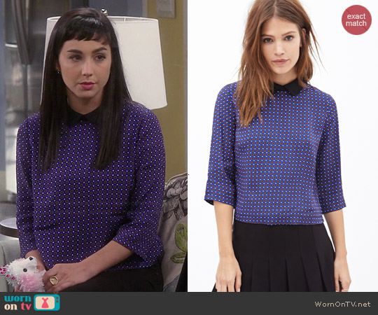 Forever 21 Peter Pan Collar Top worn by Molly Ephraim on Last Man Standing