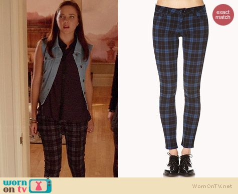 Forever 21 Plaid Skinny Jeans worn by Haley Ramm on Chasing Life
