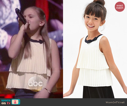 Forever 21 Pleated Bow Top worn by Maisy Stella on Nashville