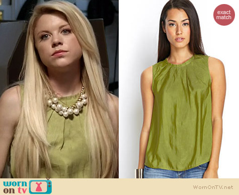 Forever 21 Pleated Satin Top worn by Bailey Buntain on Faking It