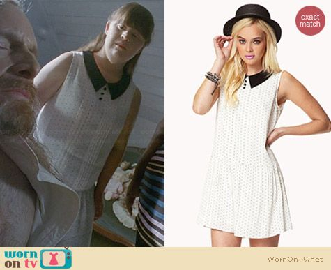 Forever 21 Polka Dot Georgette Dress worn by Jamie Brewer on AHS Coven
