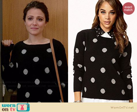 Forever 21 Polka Dot Sweater worn by Italia Ricci on Chasing Life