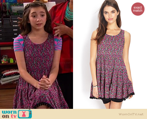 Forever 21 Prairie Floral Smock Dress worn by Rowan Blanchard on Girl Meets World