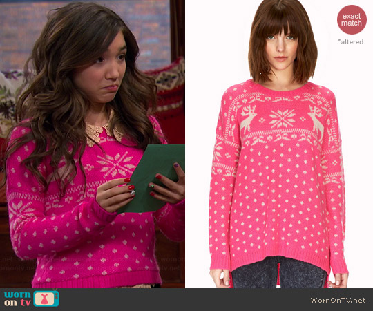 WornOnTV: Riley's pink Christmas sweater on Girl Meets World ...