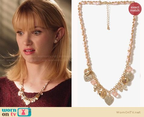 Forever 21 Ribbon Charm Necklace worn by Claudia Lee on Hart of Dixie