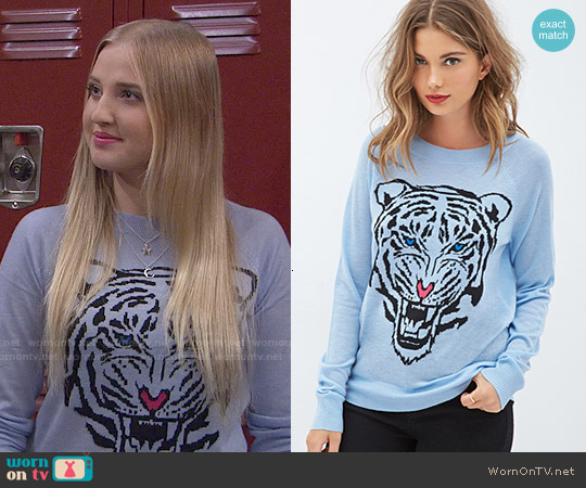 Forever 21 Roaring Tiger Sweater worn by Veronica Dunne on KC Undercover