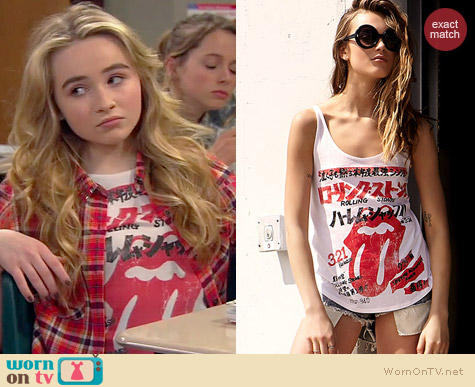Forever 21 Rolling Stones Tank worn by Sabrina Carpenter on Girl Meets World