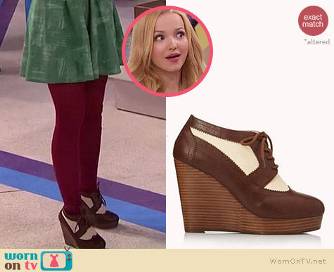Forever 21 Smart Spectator Wedges worn by Dove Cameron on Liv & Maddie