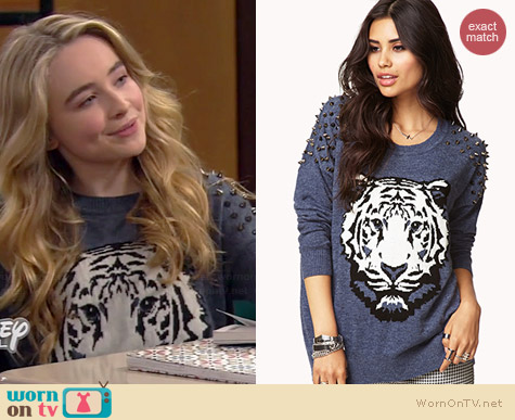 Forever 21 Standout Spiked Sweater worn by Sabrina Carpenter on Girl Meets World