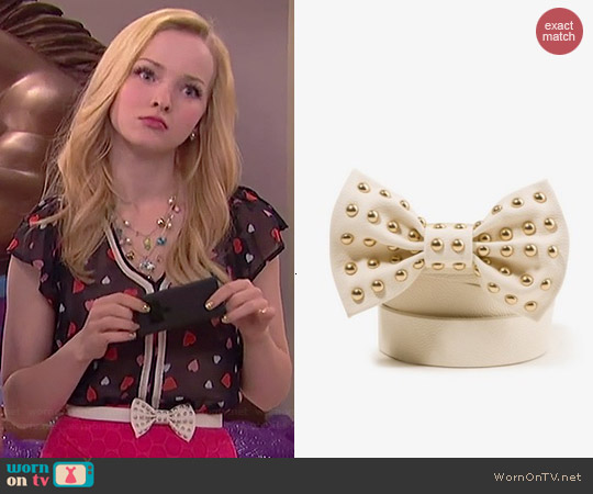 Forever 21 Studded Bow Belt worn by Dove Cameron on Liv & Maddie