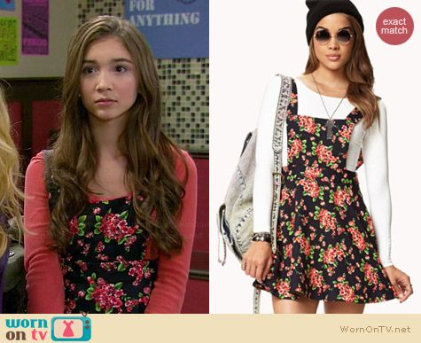 Forever 21 Sweet Floral Overall Dress worn by Rowan Blanchard on Girl Meets World
