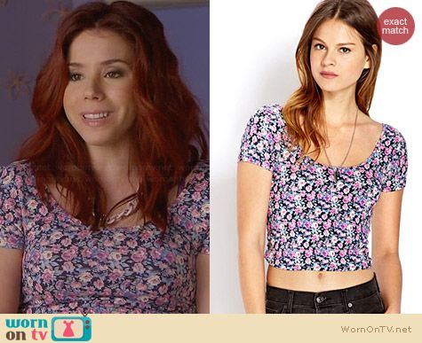 Forever 21 Sweet Thing Crop Top worn by Jillian Rose Reed on Awkward
