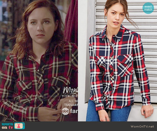 Forever 21 Tartan Plaid Shirt worn by Haley Ramm on Chasing Life