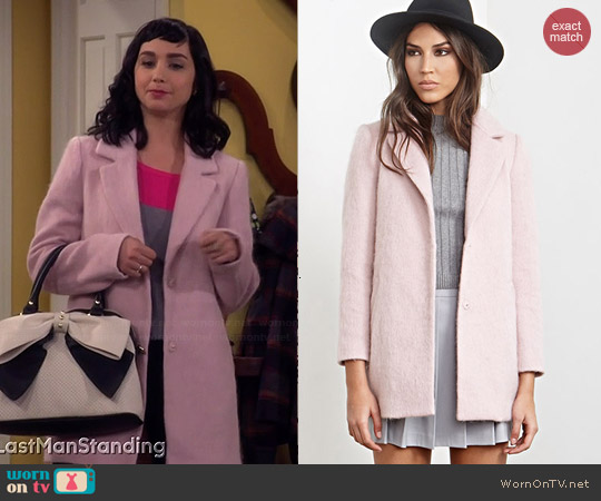 Forever 21 Textured Longline Coat worn by Mandy Baxter on Last Man Standing