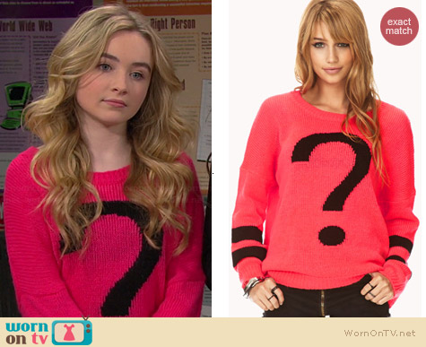 Forever 21 Totally Clueless Sweater worn by Sabrina Carpenter on Girl Meets World