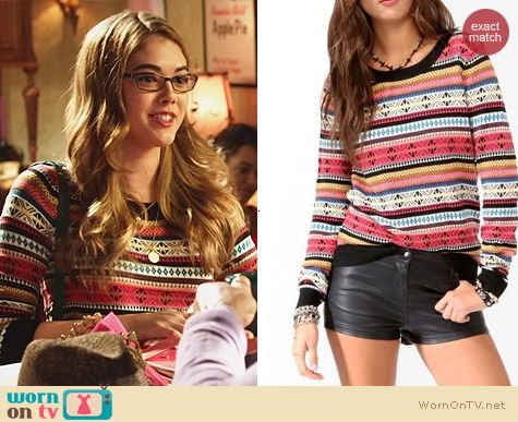 Forever 21 Vibrant Fair Isle Sweater worn by McKaley Miller on Hart of Dixie