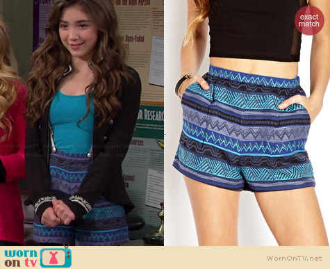 Forever 21 Voyager High Waisted Shorts worn by Rowan Blanchard on Girl Meets World